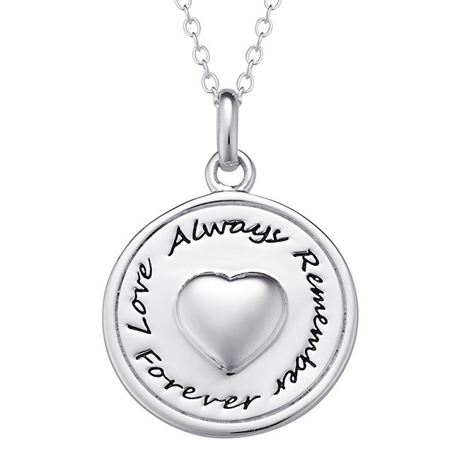 Sterling Silver Memorial Pendant (One Size/Color), White,...