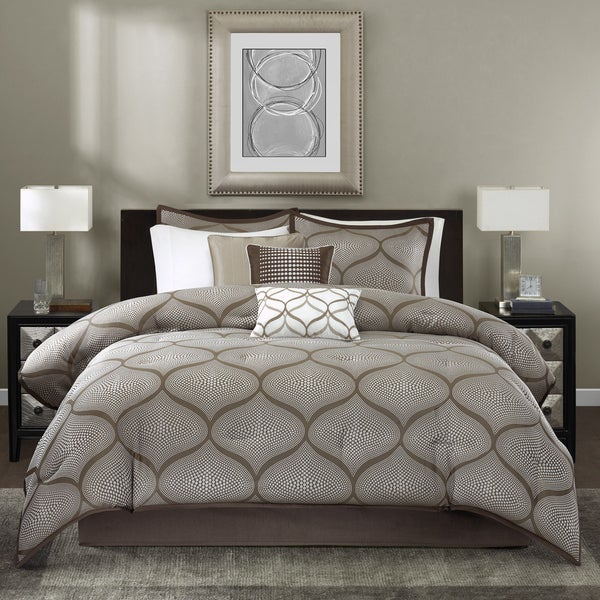 Madison Park Alandra Mocha 7-piece Comforter Set