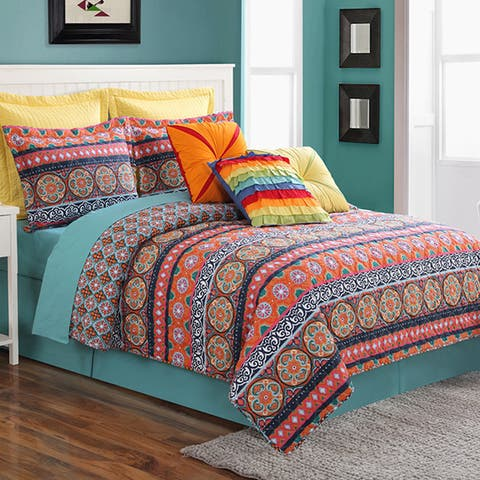 Fiesta Carman Printed 2 & 3 Piece Quilt Set