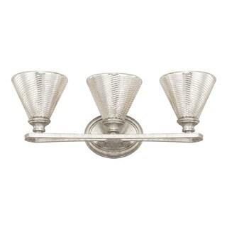 Capital Lighting Corrigan Collection 3-light Antique Silver Bath/Vanity Light