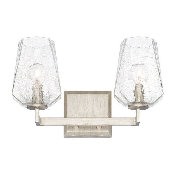 Shop Capital Lighting Arden Collection 2 Light Brushed Silver Bath Vanity Light Free Shipping