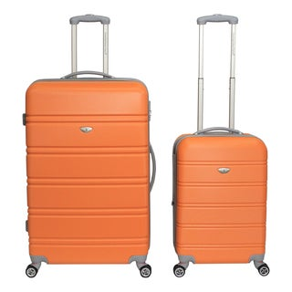 American Travel 2-piece Lightweight Hardside Spinner Luggage Set