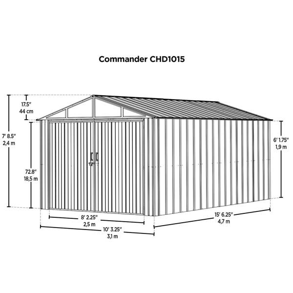 Hot Dipped Galvanized Steel Shed