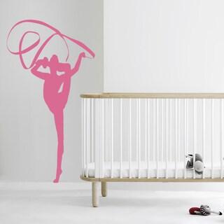 Portswoman Gymnastics Tape Wall Art Sticker Decal Brown