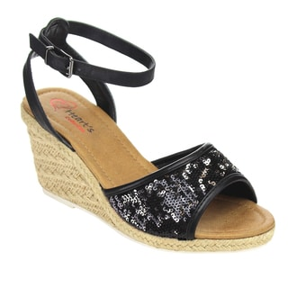 I HEART COLLECTION JULIA-02 Espadrilles Wedge Sandal