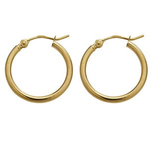 Decadence 14k Yellow Gold Superlight Hoop Earrings