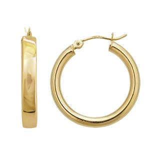 Decadence 14k Yellow Gold 3mm Superlight Hoop Earrings|https://ak1.ostkcdn.com/images/products/11710556/P18632777.jpg?impolicy=medium