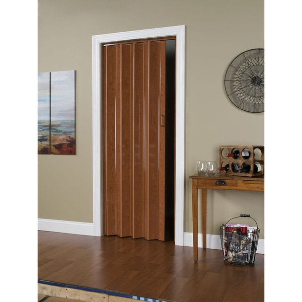 Shop Pecan Brown 48 Inch X 80 Inch Folding Door Free Shipping
