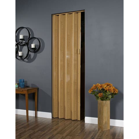 32 Inch x 96 Inch Folding Door in Oak Brown