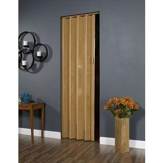 32 Inch X 96 Inch Folding Door In Oak Brown
