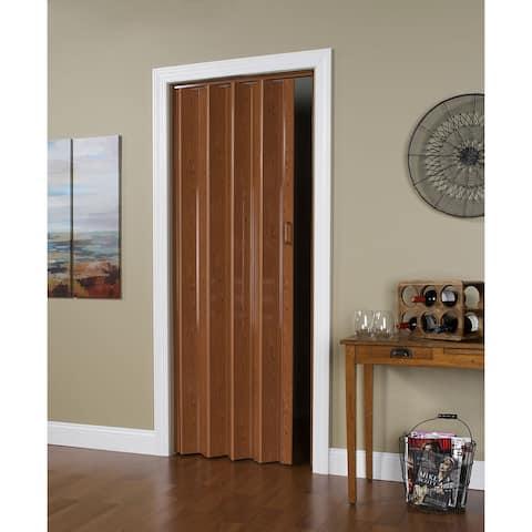 32 Inch x 80 Inch Folding Door in Pecan Brown