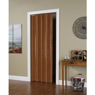 32 Inch x 80 Inch Folding Door in Pecan Brown
