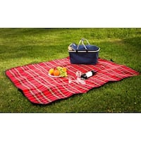 Soft Picnic Blanket Travel Camping or Beach Mat (50 x 60)