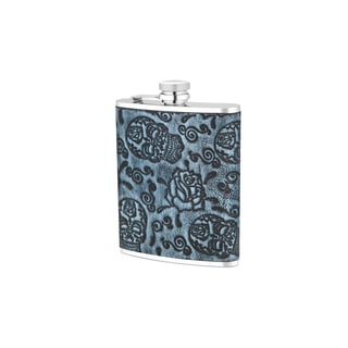 For The Love of Skulls Flask