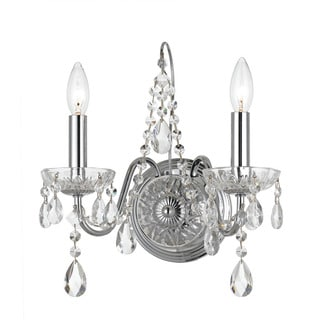 Crystorama Transitional 2-light Polished Chrome Wall Sconce