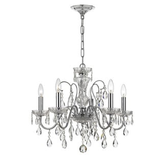 Crystorama Traditional 5-light Polished Chrome Chandelier