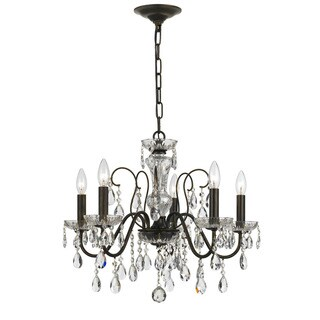 Crystorama Traditional 5-light English Bronze Chandelier