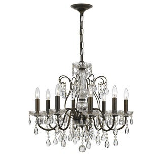 Crystorama Traditional 8-light English Bronze Chandelier