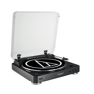 Audio Technica AT-LP60BK-BT Fully Automatic Bluetooth Wireless Belt-Drive Stereo Turntable (Black)