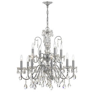 Crystorama Traditional 12-light Polished Chrome Chandelier