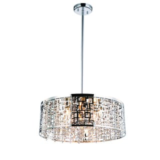 Crystorama Transitional 8-light Polished Chrome Pendant