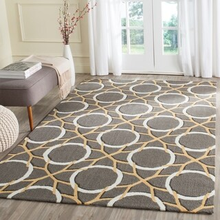Safavieh Hand-Hooked Four Seasons Grey / Ivory Polyester Rug (5' x 8')