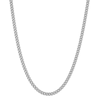 Gioelli Sterling Silver Curb 20-inch Chain Necklace