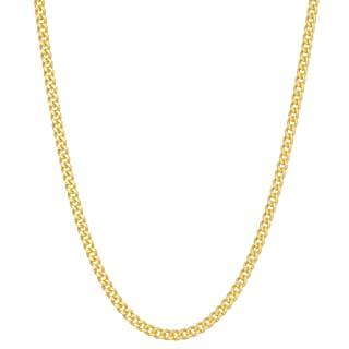 Gioelli Goldplated Silver Curb Chain Necklace