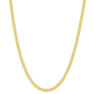 Gioelli Goldplated Silver Curb 20-inch Chain Necklace
