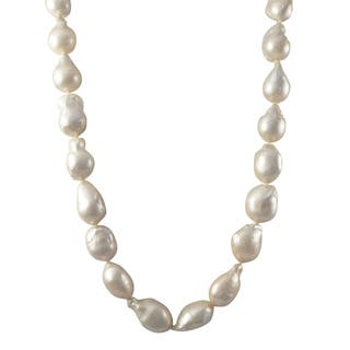 Luxiro Sterling Silver Baroque Shell Pearl Strand Necklace https://ak1.ostkcdn.com/images/products/11710795/P18632943.jpg?impolicy=medium