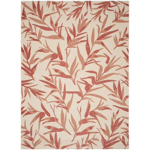 Safavieh Indoor/ Outdoor Courtyard Beige/ Terracotta Rug - 9' x 12'