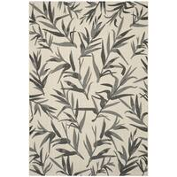 Safavieh Indoor/ Outdoor Courtyard Beige/ Anthracite Rug - 9' x 12'
