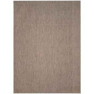 Safavieh Indoor/ Outdoor Courtyard Brown/ Beige Rug (9' x 12')