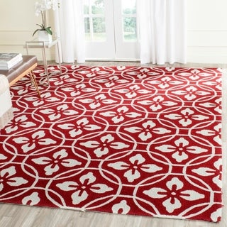 Safavieh Hand-Hooked Four Seasons Red/ Ivory Polyester Rug (8' x 10')