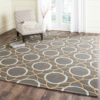 Safavieh Hand-Hooked Four Seasons Grey / Ivory Polyester Rug (8' x 10')