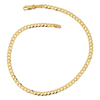Fremada 10k Yellow Gold 2.7-mm High Polish Curb Link Anklet (10 inches)