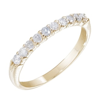 14k Yellow Gold 1/4ct TDW Diamond Wedding Band (H-I, I1-I2)