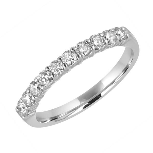 14k White Gold 1/2ct TDW Diamond Wedding Band - White H-I