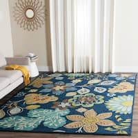 Safavieh Hand-Hooked Four Seasons Navy Floral Rug - 8' x 10'