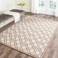 Safavieh Hand-Hooked Four Seasons Ivory / Dark Brown Rug - 8' x 10'