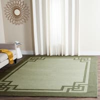 Safavieh Hand-Hooked Four Seasons Greek Key Moss/ Dark Sage Rug - 8' x 10'