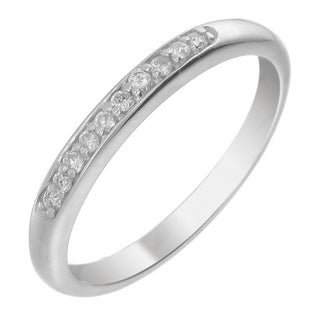 14k White Gold 1/5ct TDW Diamond Wedding Band - White H-I