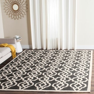 Safavieh Hand-hooked Indoor/ Outdoor Four Seasons Anthracite/ Ivory Rug (9' x 12')