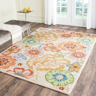 Safavieh Hand-Hooked Four Seasons Beige/ Red Polyester Rug (8' x 10')