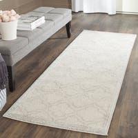 Safavieh Indoor/ Outdoor Amherst Ivory/ Light Grey Rug - 2'6 x 4'