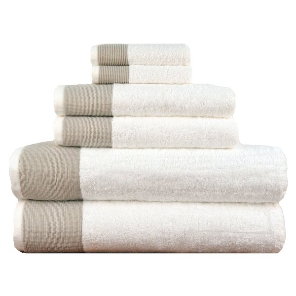 Venice Luxury 100-percent Turkish Combed Cotton 6-Piece Towel Set