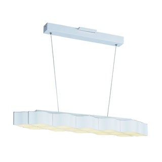 Billow 16-light LED Matte White Linear Pendant Light