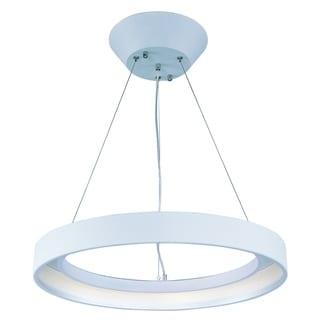 Apollo 1-light LED Matte White Single Pendant Light