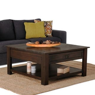 Buy square coffee tables online at overstock our best living wyndenhall garret square coffee table watchthetrailerfo
