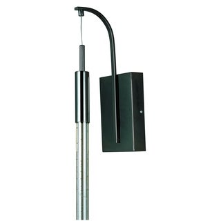 Scepter 1-light LED Black Chrome Wall Sconce